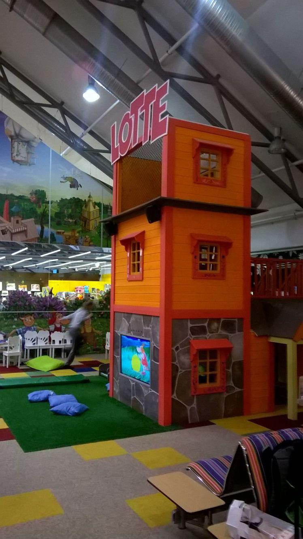 """Der Kinderbereich, gestaltet in Anlehnung an die Welt von """"Lotte"""", einer estnischen Zeichentrickfigur, die es auch schon in zwei Filmen im deutschen Kino zu sehen gab."""
